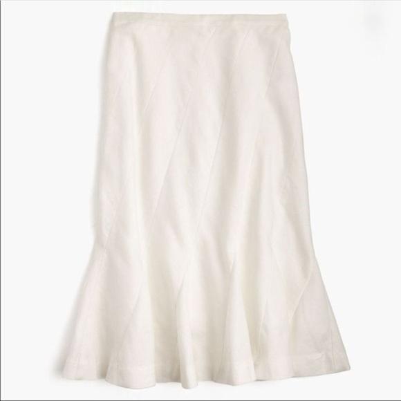 c582cb175f J. Crew Skirts | J Crew Fluted Skirt In Stretch Linen Nwt Sz 2 ...